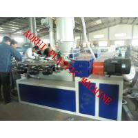 China PVC PE PP Single Wall Corrugated Pipe Extruder , Plastic Pipe Extrusion Line on sale