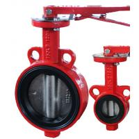 Quality Industrial Wafer Type Butterfly Valve With  Lever Operator DN40 - DN1200 for sale
