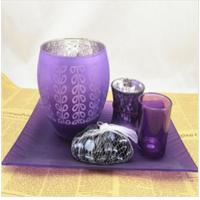 Best Christmas tree glass candle holder set for promotional gifting wholesale