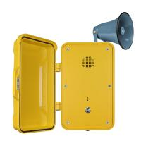 Quality Impact Resistant Industrial Weatherproof Telephone Equipped With Horn And Lamp for sale