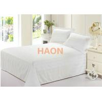 Quality Home Spa Hospital Hotel Bed Sheets In Dense Cotton Plain White Fabric for sale