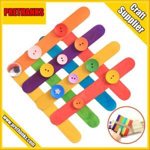 China jumbo hobby colored wood craft sticks on sale
