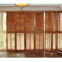 China Stained Plantation Exterior Decorative Adjustable Louver Window Shutter Doors on sale