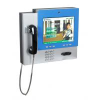 Quality Wireless Connective Wall Mounted Kiosk with telephone and webcamera for video call V602 for sale