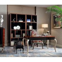 Quality Luxury Furniture Home office Bookcase cabient and Writing desk in Ebony wood glossy painting with Office chairs for sale