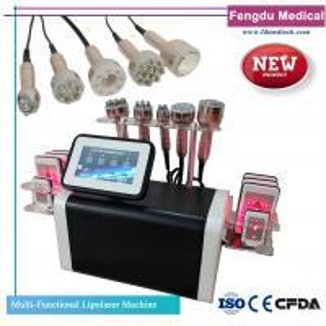 Quality Multifunctional Lipolaser Ultrasonic Cavitation RF Body Slimming Salon Machine for sale