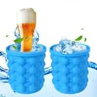 Quality Easy Ice Making TPR Plastic Ice Cube Bucket for sale