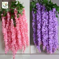 Best UVG WIS006 Indoor cheap fake flowers with silk wisteria for home decoration wholesale