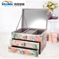 Buy cheap Multifunction Vintage Mirrored Glass Jewellery Box Wear Resistance from wholesalers