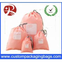 China Rope Customized Promotional Drawstring Gift Pouches , Polyester Drawstring Bag on sale