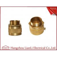 Quality 20mm 25mm Brass Flexible Conduit Adaptor With Screw Nickle Plated , ISO9001 listed for sale