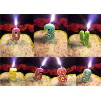 Best Rose Design 0 - 9 Number Birthday Candles For Birthday Party , Customized Color wholesale