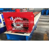 China Glazed Roof Sheeting Metal Ridge Cap Roll Forming Machine Stable Performance on sale