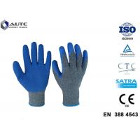 China Cut Resistant Gloves Flexible Breathable Nylon HPPE Glass Fiber Latex Coated on sale