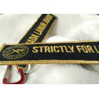 China 3D gold emboridery logo Keychains Lanyard Designs Carabiner Short Lanyards on sale