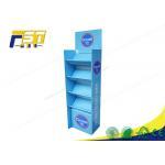 China Custom Logo Printed Recyclable Cardboard POP Paper Floor Display for sale