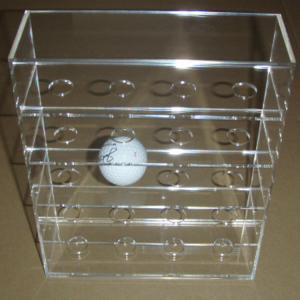 China Acrylic Clear Golf Ball Display Case Counter top Plexiglass Ball Holder  Riser on sale