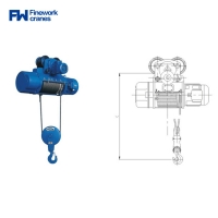 Quality Finework CD Type 2t 3t Single Speed Electric Hoist for sale