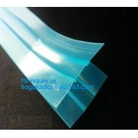 Quality plastic flange zipper without teeth, PP/PE/PVC/EVA Plastic Flange Zipper For Pouch, PP/PE/PVC/EVA Plastic Flange Zipper for sale