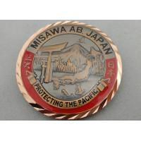 China 3D Antique Copper Plating Brass American Personalized Coins for Awards, with Diamond Cut Edge on sale