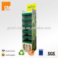 Best 6 Tiers Retail Cardboard Display Shelf for Tea Bag / Corrugated Pallet Display wholesale