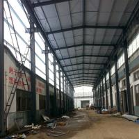 Quality Prefabricated Structural Steel Plant , Curved Roof Building Steel Structure Shed for sale