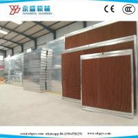 Quality Greenhouse Poultry Farm Cooling Pad System 7090 Brown Size:1800/2000*600*100mm with Galvanized Steel Frame for sale