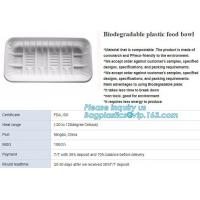 Quality blister packaging tray, rectangular plastic food tray, CornStarch PLA cement tray for sale