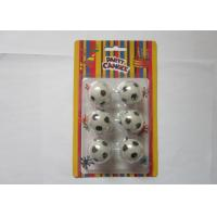 Best Disposable Cool Football Shaped Candles Eco Friendly Paraffin Wax Material wholesale