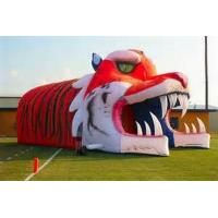 Quality Giant Inflatable Tiger Tunnel, Infaltable Tunnel For Outdoor Advertising for sale