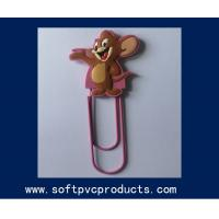 Quality Personalized Style Cute Animal Shape Soft PVC Paper Clip for Commercial Promotional Gifts for sale
