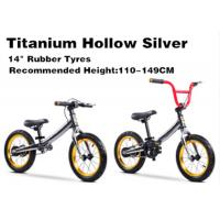 "Quality 14""  High Quality  High Carbon Steel 3in1 Kids Balance Bike No Pedal Children BMX Bicycle for 2-12 Years Titanium Silver for sale"