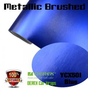 Quality Matte Metallic Brushed Vinyl Wrapping Film - Matte Metallic Brushed Dark Blue for sale