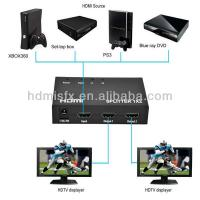 China hdmi 1 to 2 splitter Support 3D 1080P on sale