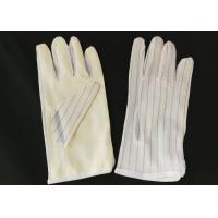 Quality 22cm Length ESD Hand Gloves , Non Static Gloves PU Coated Protective for sale