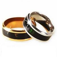Best 30-39 degrees temperature display temperature measuring stainless steel magic ring wholesale