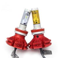 Buy cheap H4 H7 H8 H9 H11 9005 led headlight lamp X3 led headlight 3 color changeable from wholesalers