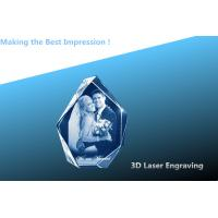 China 3D laser CRYSTAL/crystal photo frame/laser engraving photo frame on sale