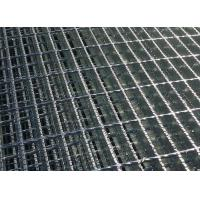 Quality Stair Tread Q235 Serrated Steel Grating , Serrated Bar Grating For Twisted Bar Walkway for sale
