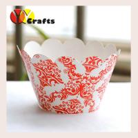 China Colorful cupcake wrappers flower paper wedding cupcake cake muffin decor on sale