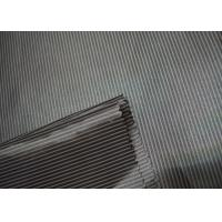 China Pinstripe Sleeve Lining Fabric , Coat Lining Fabric Antistatic Feature on sale