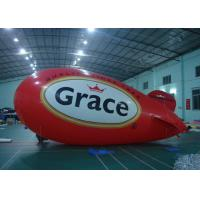 China Custom Advertising Inflatable Red Airship Blimp Zeppelin With Full Printing on sale