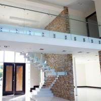 China High quality stair stainless steel glass railing design,terrace railing designs on sale