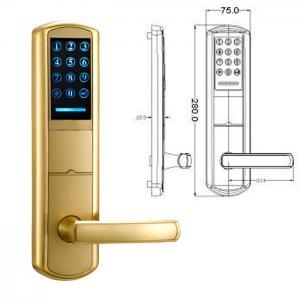 China High Security Zinc Alloy Door Handle Lock Smart Key Password intelligent Door Lock on sale