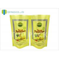 Best Brown Custom Printed Stand Up Pouch Packaging Tear Notch Transparent Window wholesale