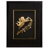 Quality 25cm * 32cm Gold Foil Crafts , Realistic 24K Gold foil Angel frame for sale