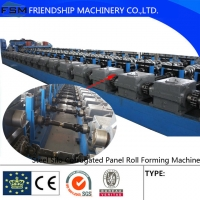 Quality Galvanized  Octagonal Corrugated Roll Forming Machine With Manual Uncoiler for sale