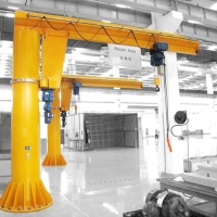 Quality 360 Degree Rotation Free Standing Jib Crane For Workshop for sale