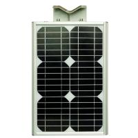China Light Control Solar LED Street Lights 20w 12v 2200LM For Courtyard / Road / Pathway on sale