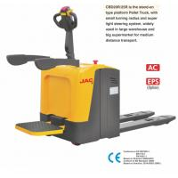 Buy cheap Standing Type Electric Pallet Jack With 2000KG Loading Capacity , Optional Color from wholesalers
